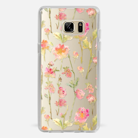 Galaxy Note 7 Case - Pale Roses Clear
