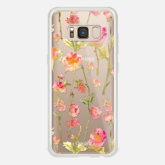 Galaxy S8 Case - Pale Roses Clear