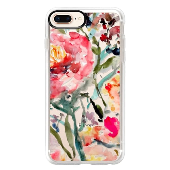 iPhone 8 Plus Cases - Pink Peony