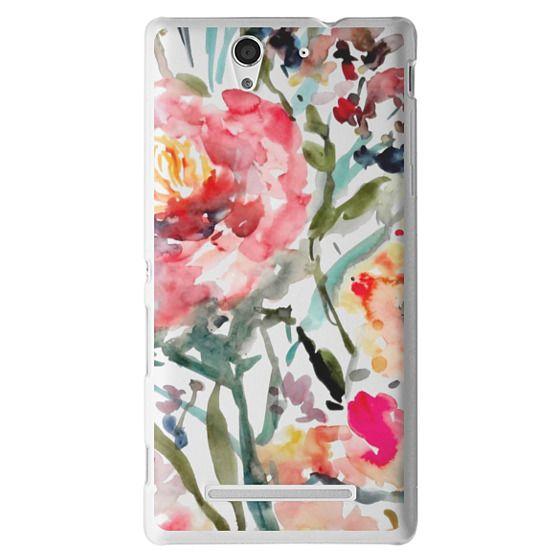 Sony C3 Cases - Pink Peony