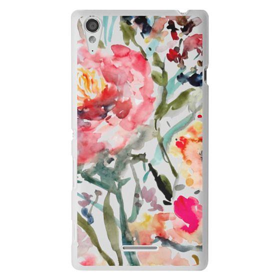 Sony T3 Cases - Pink Peony