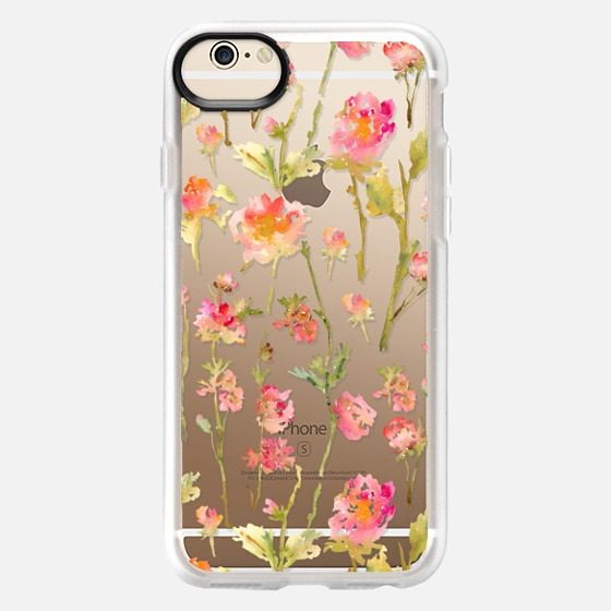 iPhone 6 Capa - Pale Roses Clear