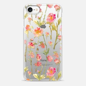 iPhone 7 Case Pale Roses Clear
