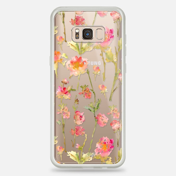 Galaxy S8+ Case - Pale Roses Clear