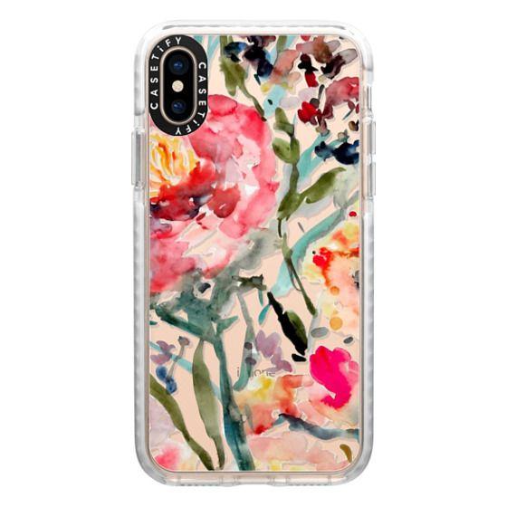 iPhone XS Cases - Pink Peony