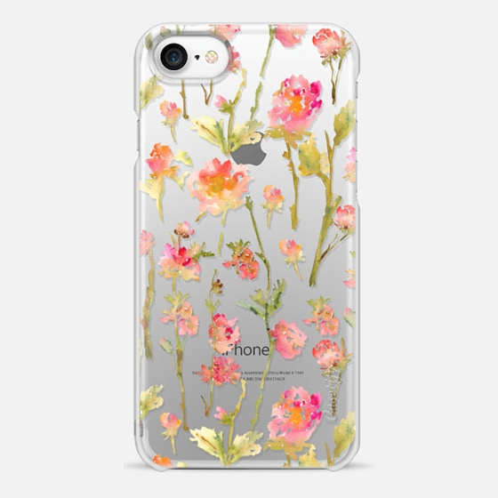 iPhone 7 Case - Pale Roses Clear