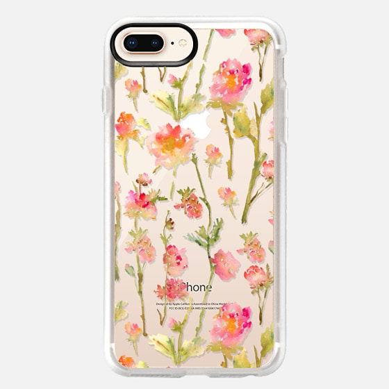 iPhone 8 Plus Case - Pale Roses Clear