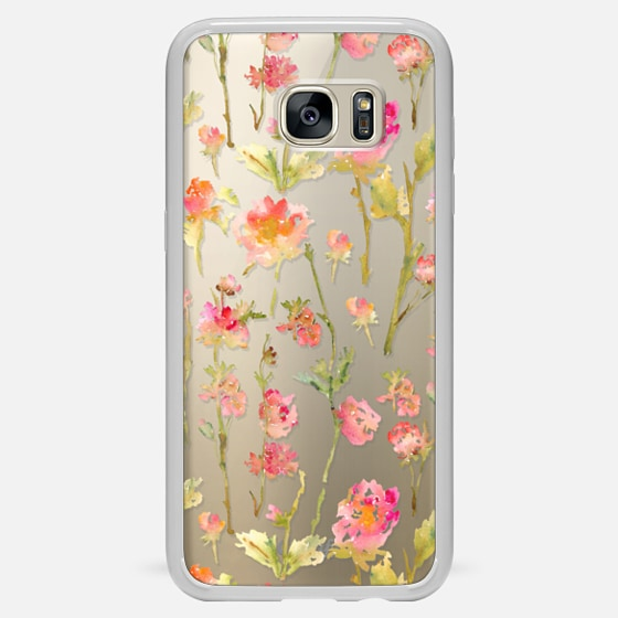 Galaxy S7 Edge Case - Pale Roses Clear