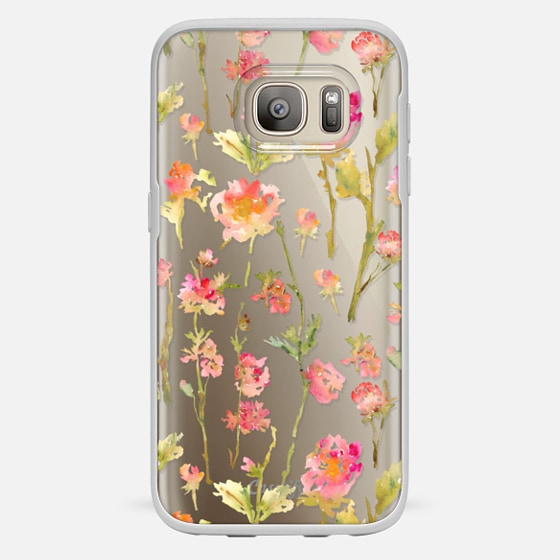 Galaxy S7 Coque - Pale Roses Clear
