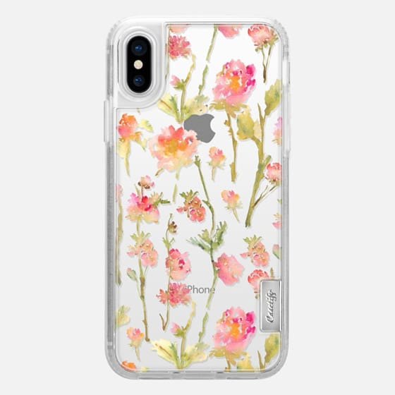 iPhone X Capa - Pale Roses Clear