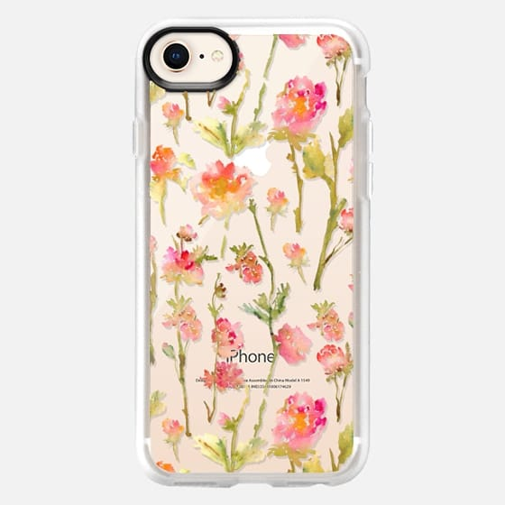 iPhone 8 Case - Pale Roses Clear