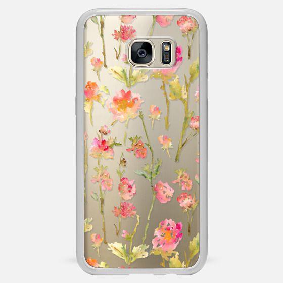 Galaxy S7 Edge เคส - Pale Roses Clear
