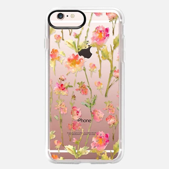 iPhone 6s Plus Case - Pale Roses Clear