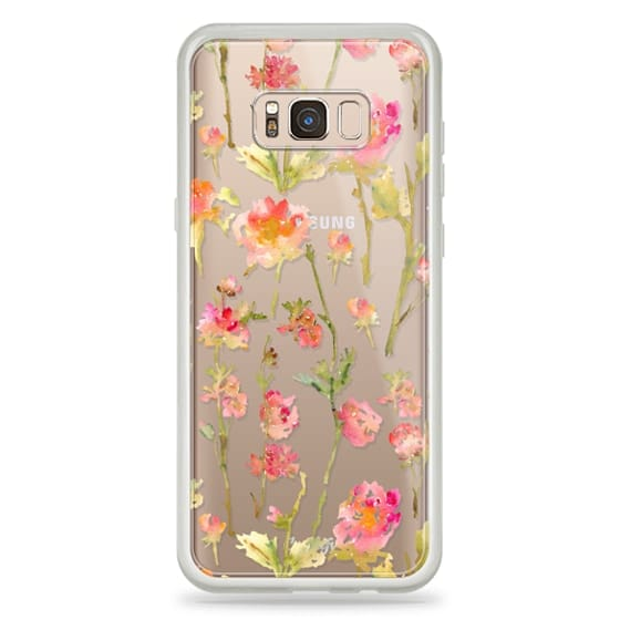 Galaxy S8 Plus Capa - Pale Roses Clear