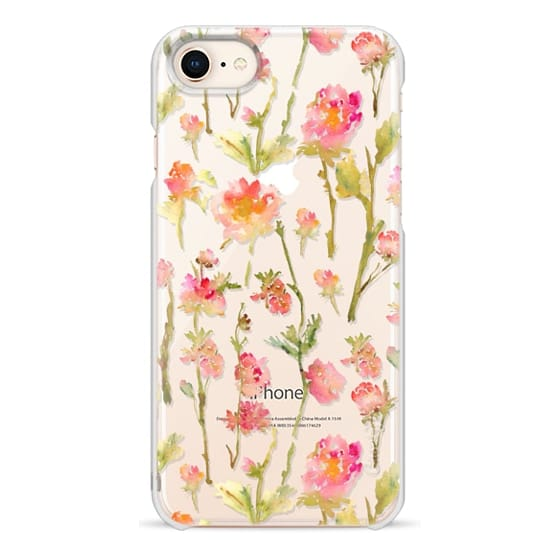 iPhone 8 Cases - Pale Roses Clear