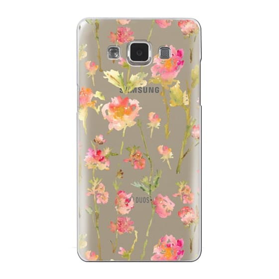 Samsung Galaxy A5 Cases - Pale Roses Clear