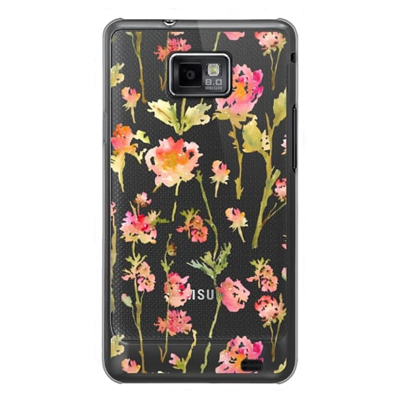 Samsung Galaxy S2 Cases - Pale Roses Clear