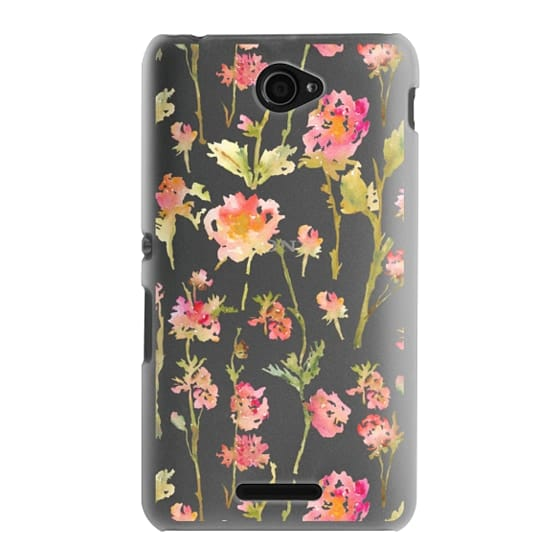Sony E4 Cases - Pale Roses Clear