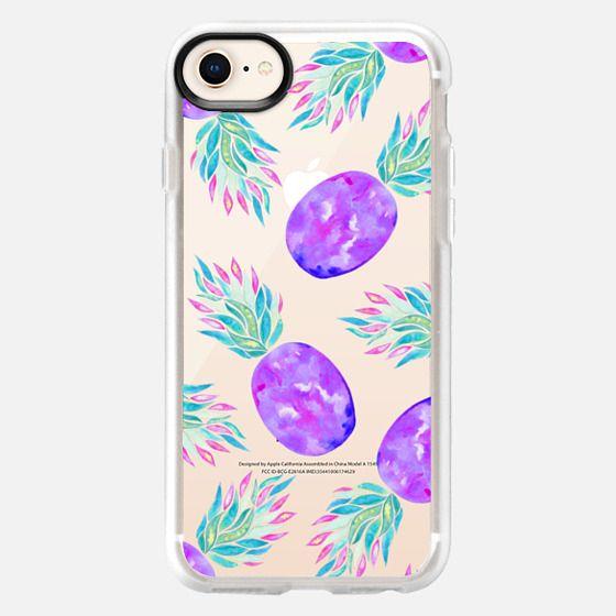Pineapple à la mode transparent - Snap Case