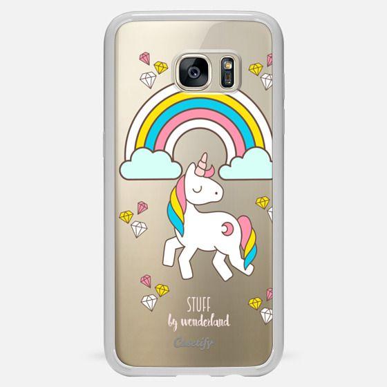 Whimsical Unicorn Transparent Phone Case - Classic Snap Case