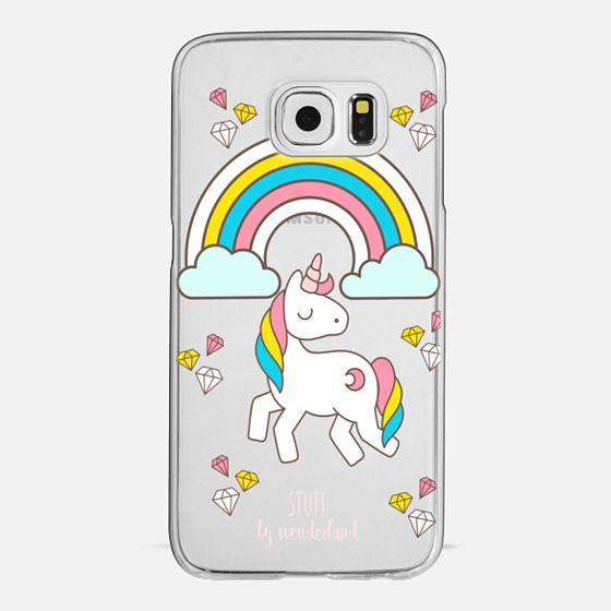 Whimsical Unicorn Transparent Phone Case -