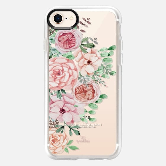 Pastel Pink Flowers iPhone Case - Snap Case