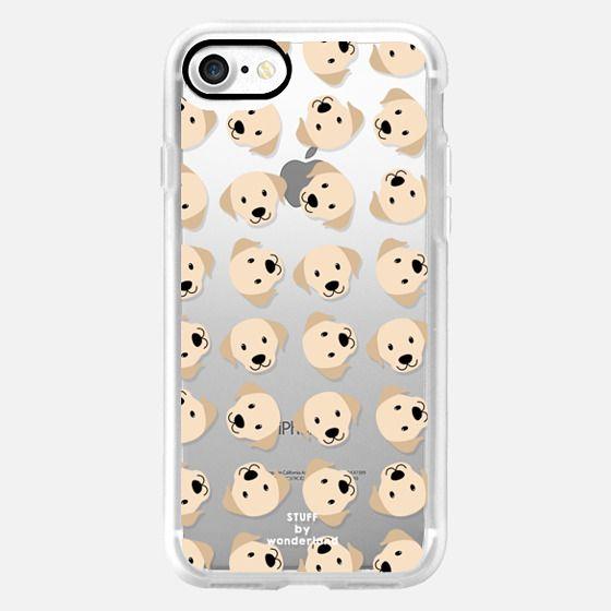 Golden Labrador Retriever Transparent iPhone Case - Snap Case