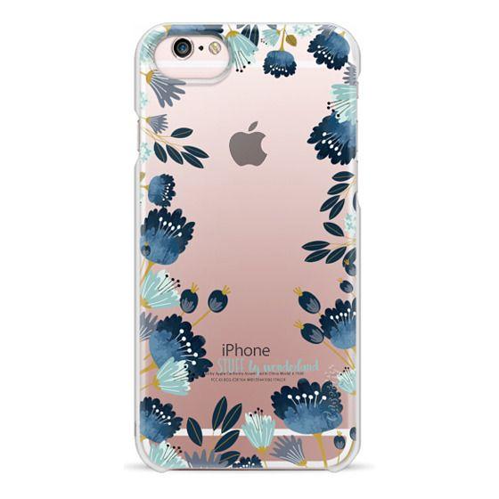 iPhone 6s Cases - Blue Flowers Transparent iPhone Case