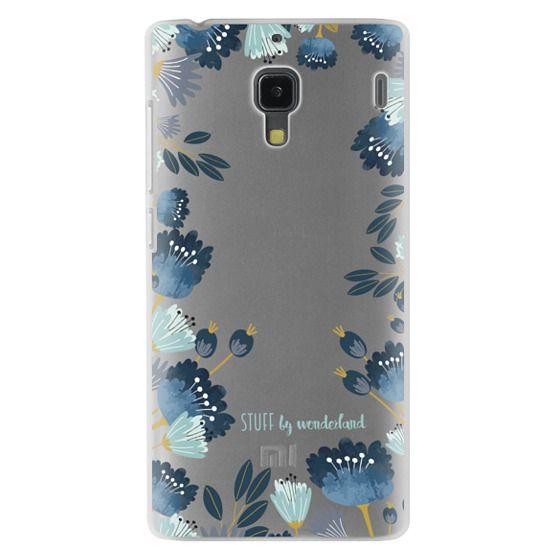Redmi 1s Cases - Blue Flowers Transparent iPhone Case