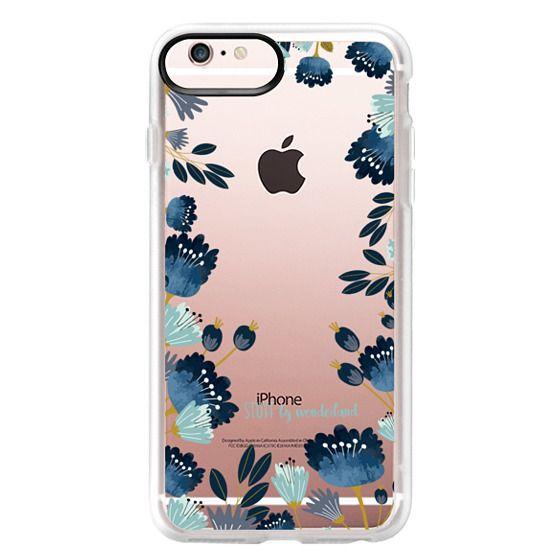 iPhone 6s Plus Cases - Blue Flowers Transparent iPhone Case