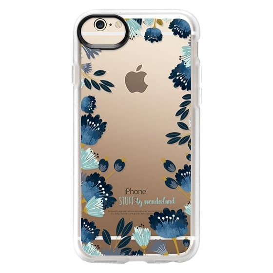 iPhone 6s Cases - Blue Flowers Transparent iPhone Case
