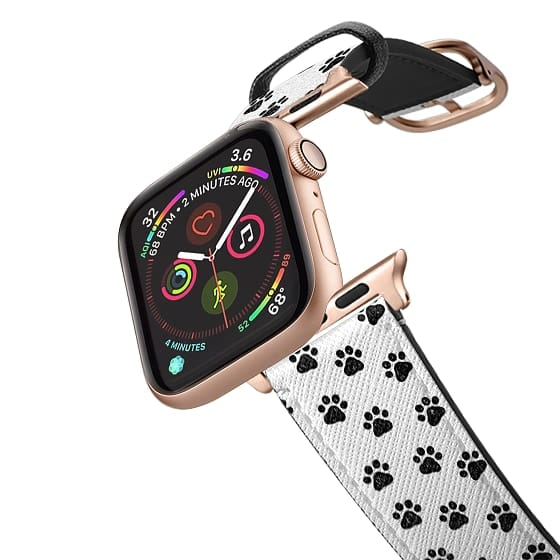 Apple Watch 42mm Bands - Black and White Paw Prints
