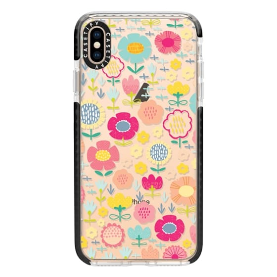 iPhone XS Max Cases - Pastel Floral Warm Mix