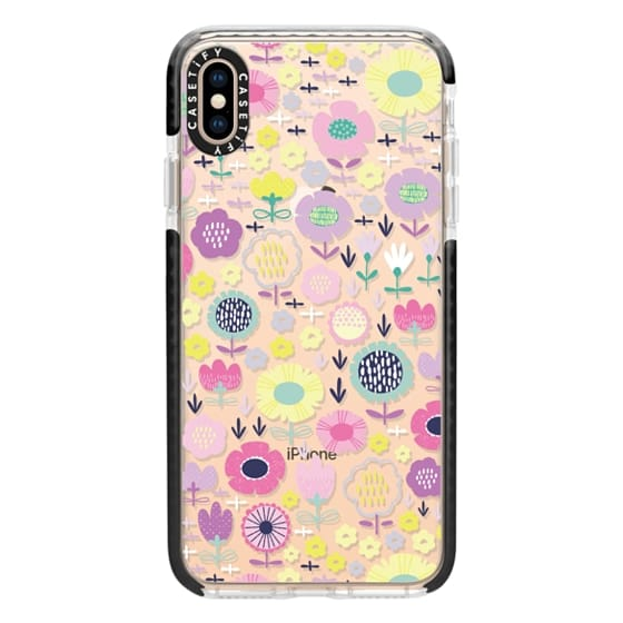 iPhone XS Max Cases - Pastel Floral Cool Mix
