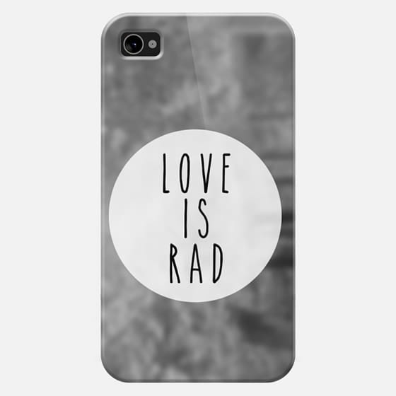 Love is Rad - Classic Snap Case