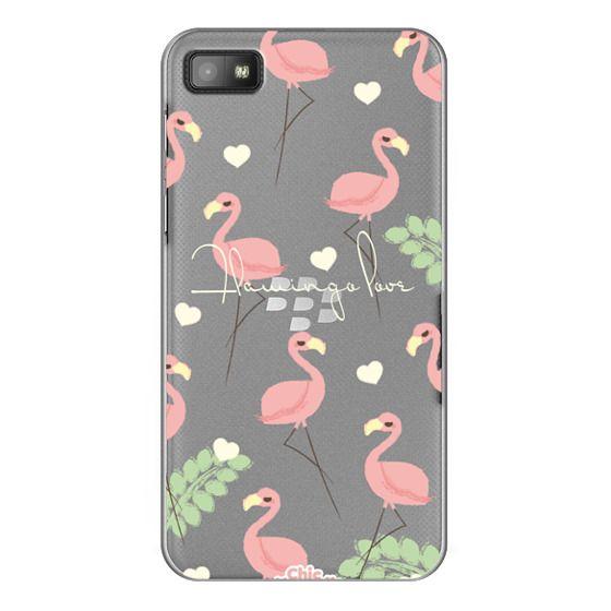 Blackberry Z10 Cases - Flamingo Love By Chic Kawaii