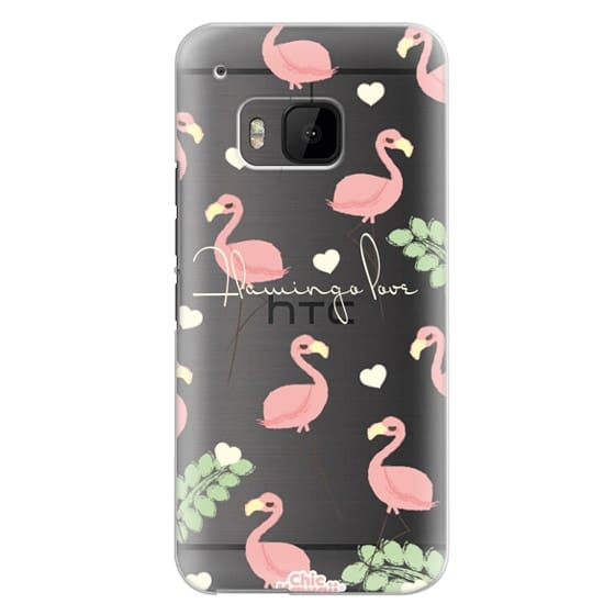Htc One M9 Cases - Flamingo Love By Chic Kawaii