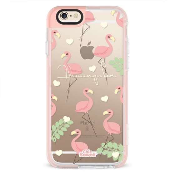 iPhone 4 Cases - Flamingo Love By Chic Kawaii