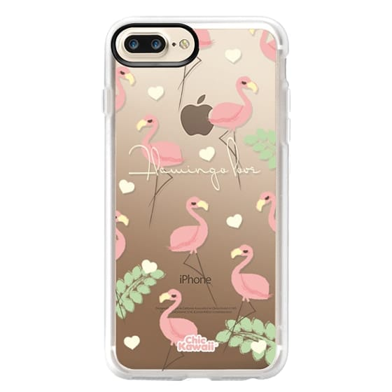 iPhone 7 Plus Cases - Flamingo Love By Chic Kawaii