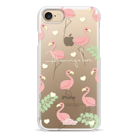 iPhone 7 Cases - Flamingo Love By Chic Kawaii