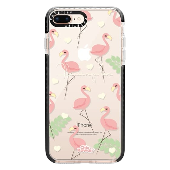 iPhone 8 Plus Cases - Flamingo Love By Chic Kawaii