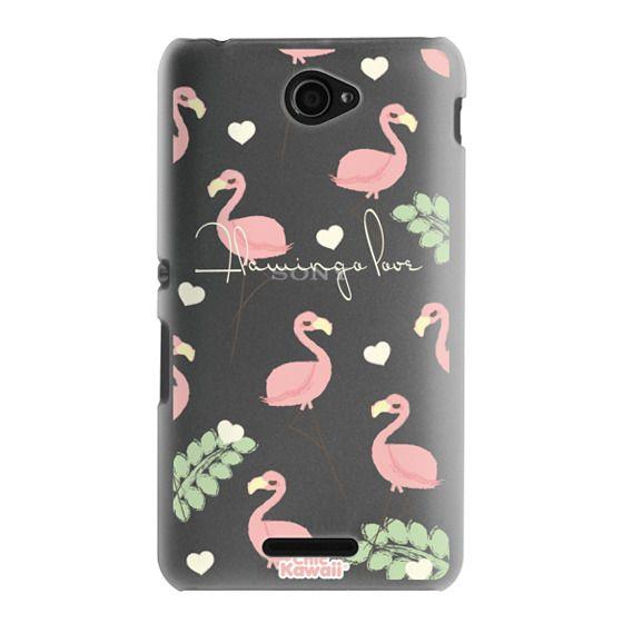 Sony E4 Cases - Flamingo Love By Chic Kawaii