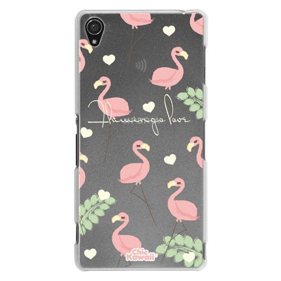 Sony Z3 Cases - Flamingo Love By Chic Kawaii