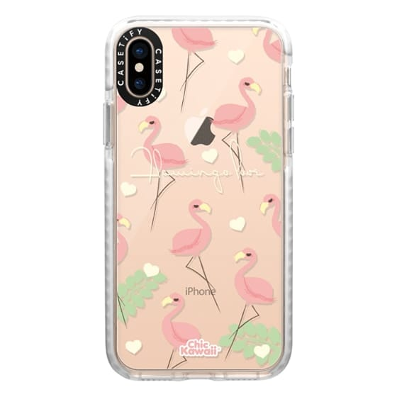 iPhone XS Cases - Flamingo Love By Chic Kawaii