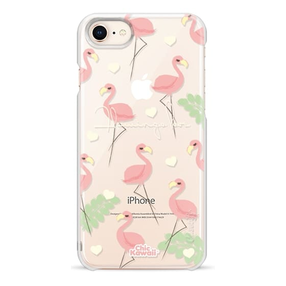 iPhone 8 Cases - Flamingo Love By Chic Kawaii