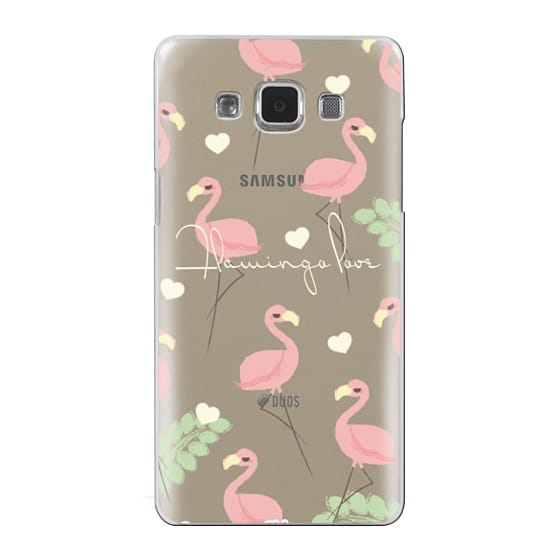 Samsung Galaxy A5 Cases - Flamingo Love By Chic Kawaii