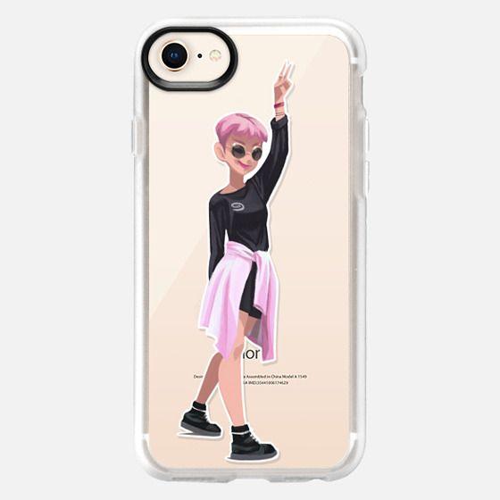 Gouache Girl Pink - Snap Case