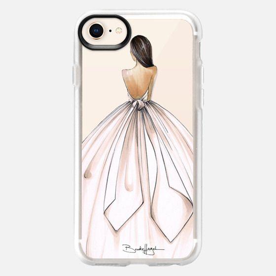 Gwen-Brunette Bride-Brooklit-Fashion Illustration - Snap Case