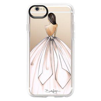 Grip iPhone 6 Case - Gwen-Brunette Bride-Brooklit-Fashion Illustration