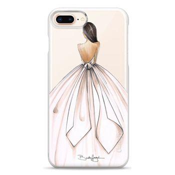 Snap iPhone 8 Plus Case - Gwen-Brunette Bride-Brooklit-Fashion Illustration